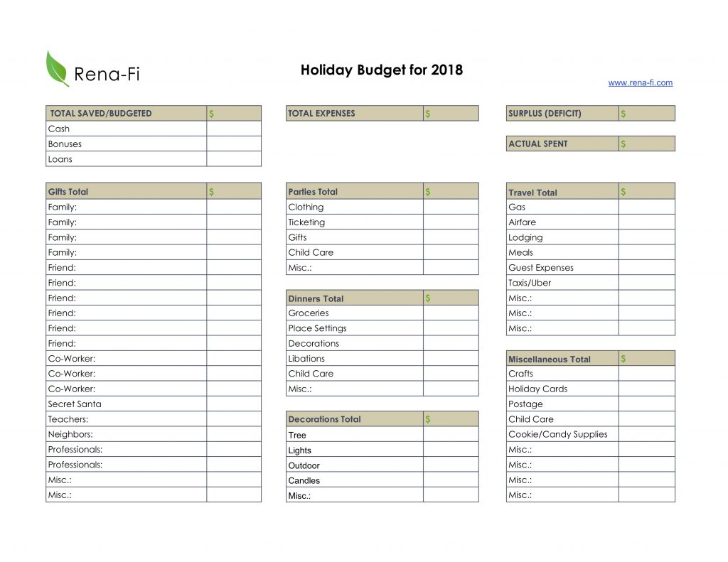 Holiday Budget Preview