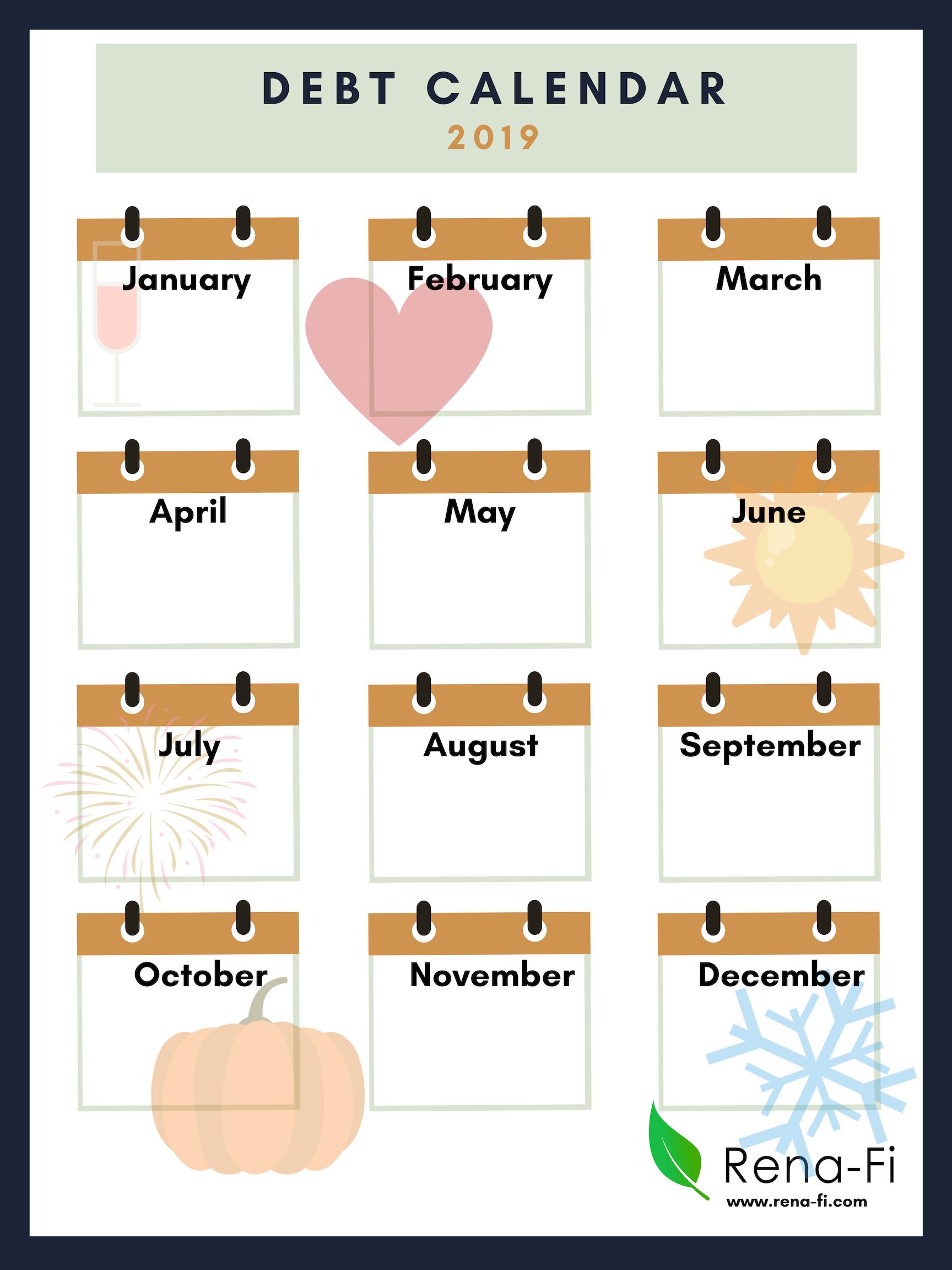 Debt payment Calendar