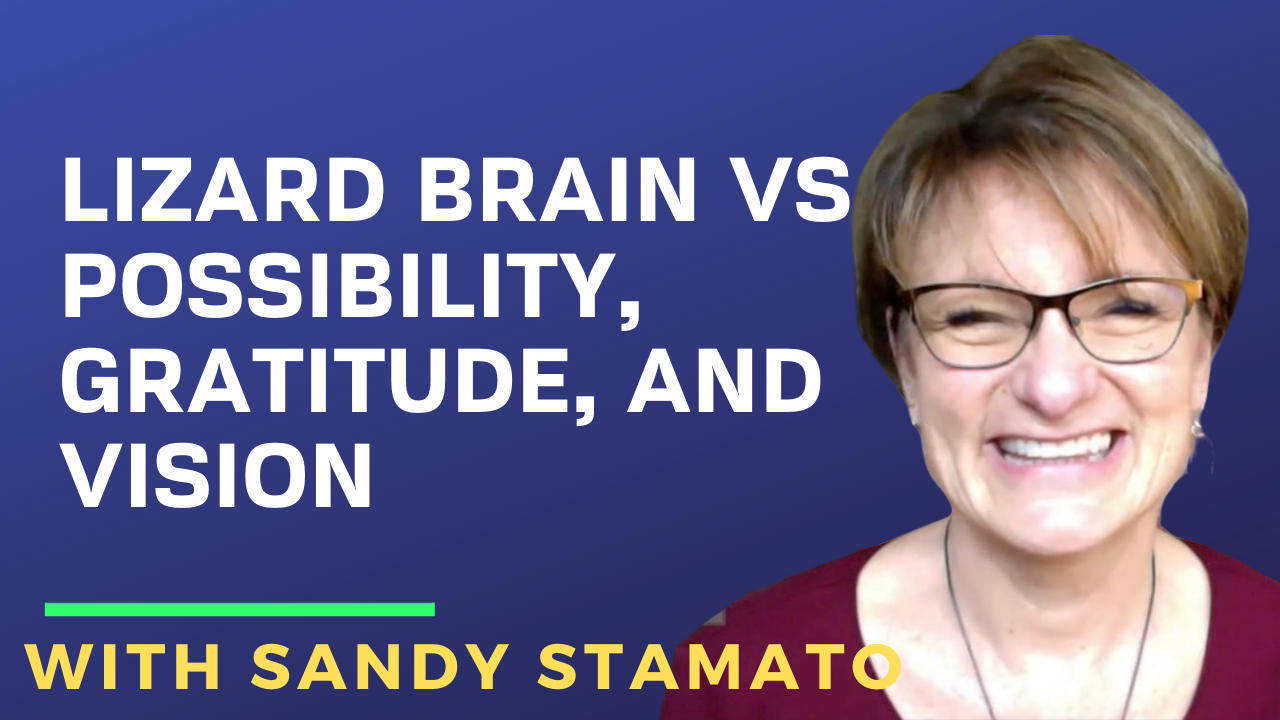 Lizard Brain vs Possibility, Gratitude, and Vision with Sandy Stamato